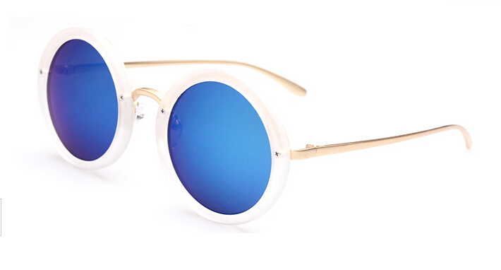 Wholesale Hot Italy Branded Fashion Sunglasses Cool Big Round Frame Eyewear Vintage Sun Shade Glasses
