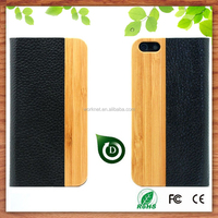 PU leather cell phone bags for iphone 5/5s, bamboo wooden phone bags & cases for iphone 5 6 6plus-Shenzhen Worknet