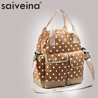 White dot printing school female bag durable PU leather bag woman style