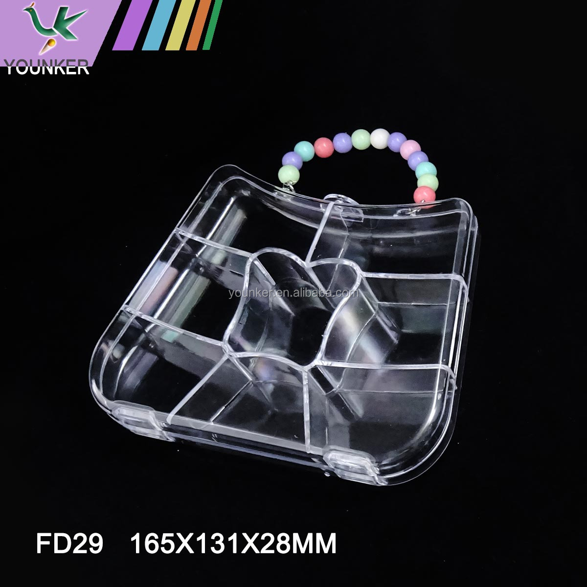 Wholesale Different Shape Transparent Plastic DIY Jewelry Box