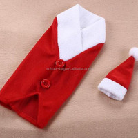 Decorative Christmas gift plush red bottle cover bag