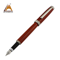 Ecological Gorgeous Handmade Wooden Smooth Writing Fountain Pen Set Rosewood Box Packing Better Elegant Business Gift
