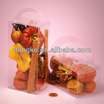 foldable clear pvc gifts boxes with handle