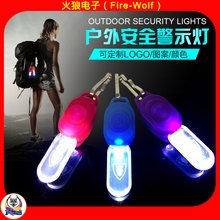 Plastic Mini Clip Led Safety Light Clip on Bag 2017 China Manufacturer Running Warning Light