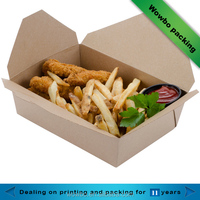 green microwave disposable fast food kraft paper box packaging