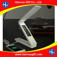 2016 new product 3w high quality USB foldable study solar desk lamp color changing led table lamp touch sensor for camping