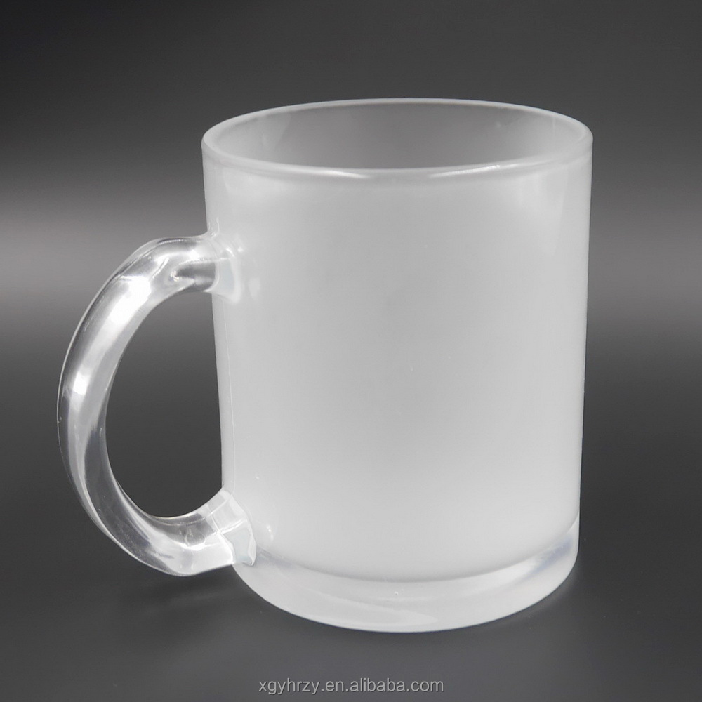 11oz Frosted Glass Mug for Sublimation