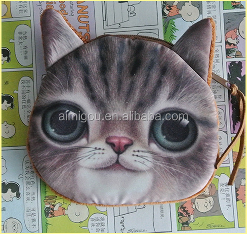 2014 Fashion shopping bag / cat face handbags / fabric shoulder women bag