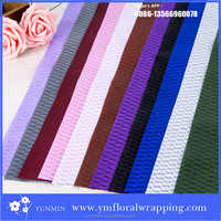 high quality solid color waterproof new wrapping paper for flower wrap wholesalers,mesh gift fabric wrapping paper and deco mesh