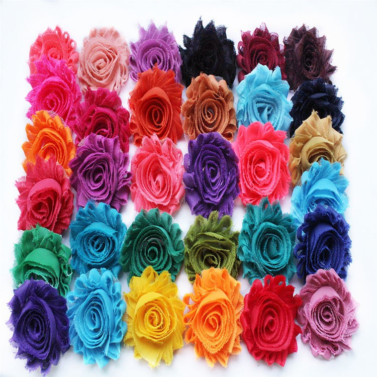DIY children's clothing accessories handmade flower flower headdress multi new girl flower 25 colors