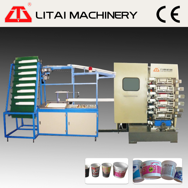 2014 high quality 6 color plastic cup printing machine printing offset printing machine