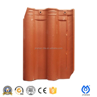 China villa ceramic glazed red oriental roof tile