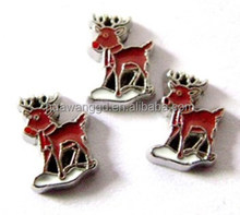 Newest Design christmas deer floating charms For Lockets
