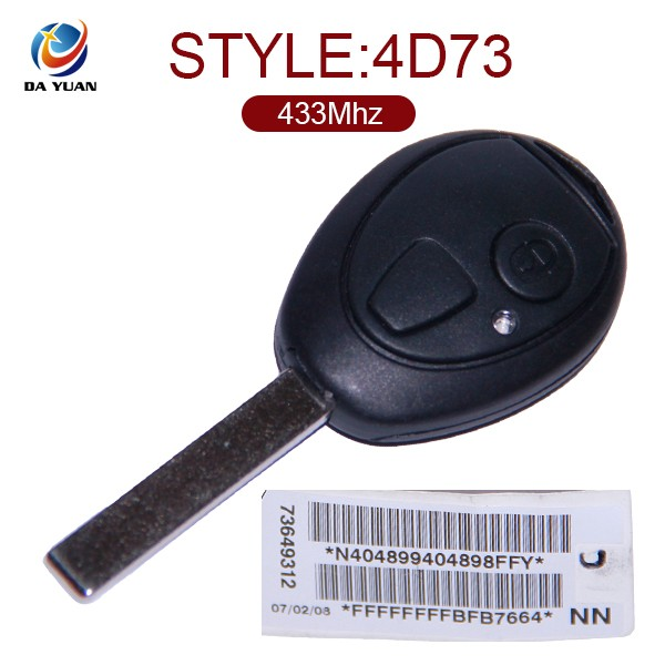 AK006016 replacement car remote key for BMW 2 button 433mhz 4D73