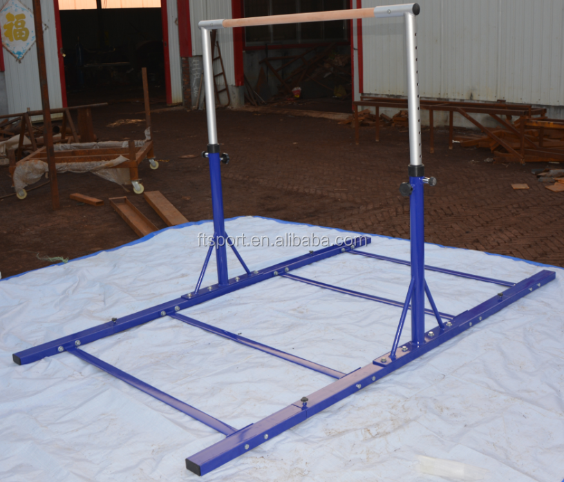 Height Adjustable Kids Gymnastic Horizontal Bar for Home/Club With Fiberglass Rail(100% Actual Photo Attached)