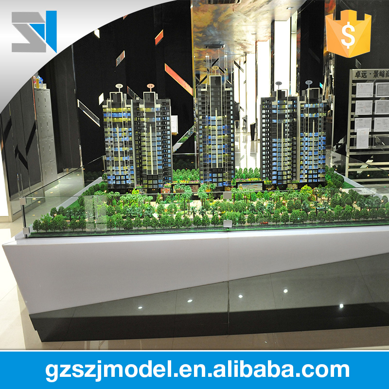 Beautiful real estate with urban management home building models