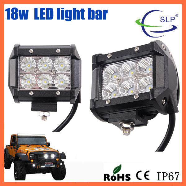 Hot sale cheap price 4 inch 1500lm 18w CRE E off road led light bars for 4x4 truck atv suv
