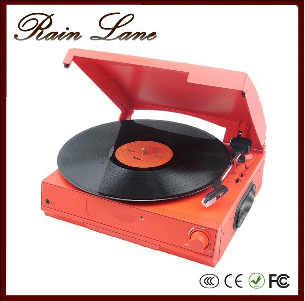Rain Lane Colorful And Classic 35/45/78 Speed Turntable USB To SD Video Converter LP Vinyl Record Player Modern