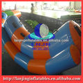 inflatable water double totter seesaw
