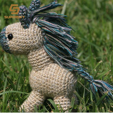 A141 Knitted Plush Horse Stuffed Toy Horse Stuffed Animal Crochet Toys Handmade Horse Crochet Toy Doll
