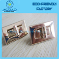 Handbag metal turn lock closures