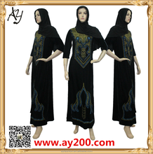 2015 Hot Stamping Velet Pakistani New Style Dresses Women Abayas
