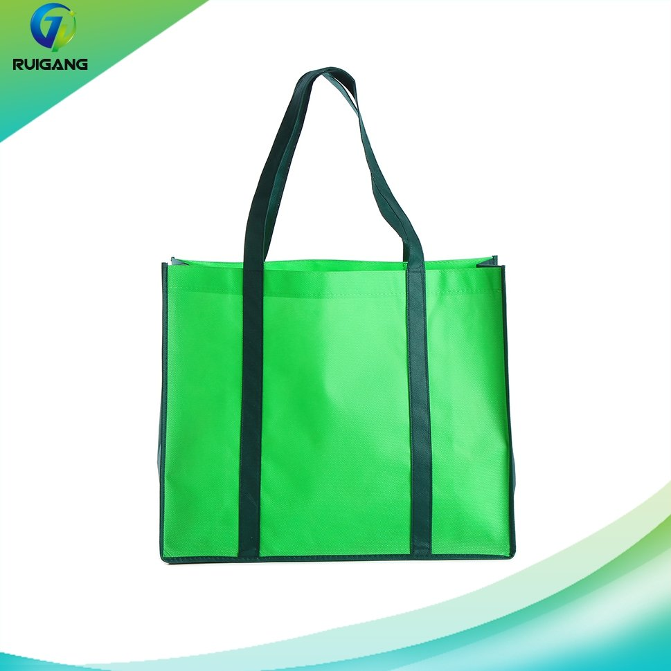 Factory wholesale fashion style eco friendly reusable nonwoven shopping bags with customized logo