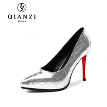 D103 new fashion silver ladies dress women high heel evening gown shoes