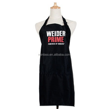 Cheap logo printed fashion cotton baker apron for promotion
