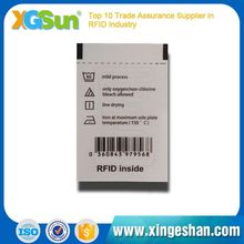 Programmable Comfortable Clothing Uhf Rfid Sticky Tags