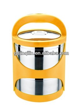 stainless steel double wall food carrier (SL03-2)