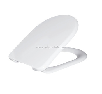 WC toilet seat cover in D shape made of duroplast from China Supplier