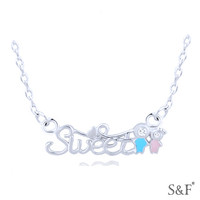 H30514 key necklace 925 sun silver jewelry