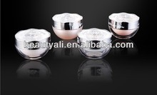 5ml 30ml 50ml Special Beautiful Cosmetic Acrylic Jar with flower lid