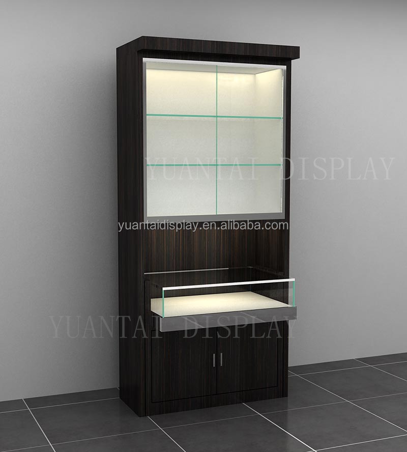 Timber Veneer Wall Display Unit Retail Furniture Wall