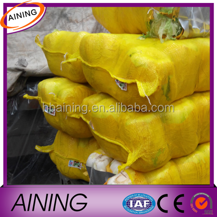 Yellow 50x80 PE raschel leno mesh bag for potato