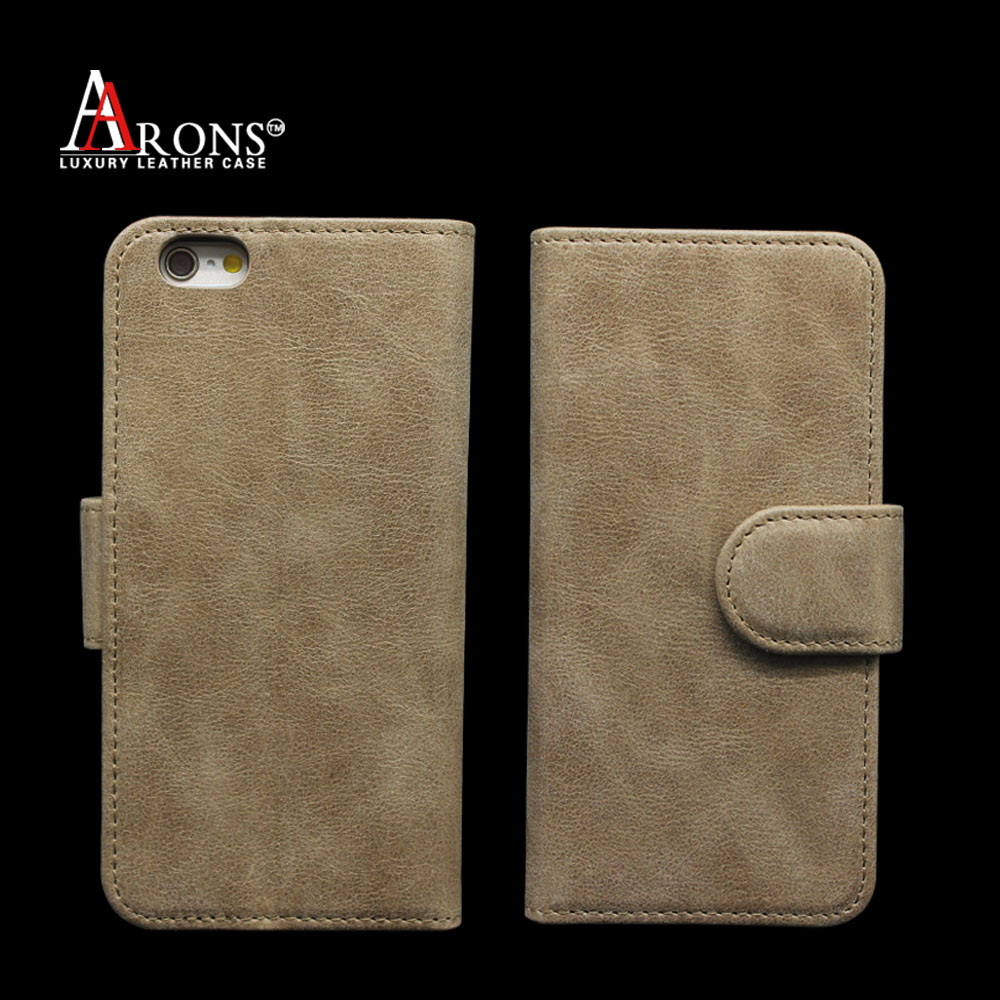 Book design strap genuine leather for iphone6 wallet case
