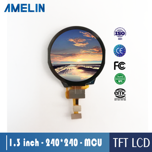 1.3 inch 240*240 IPS ST7789V driver IC round tft lcd display with touch screen and MCU interface