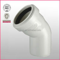 """HJ"" pvc drainage pipe fittings 45 degree elbow bend with gaskt"