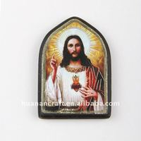 Saint Frame & wooden fridge magnet with Saint photo,wooden frame gifts
