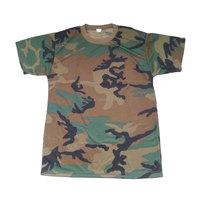 Military woodland camouflage polyester t shirt