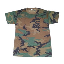 Militaire woodland camouflage polyester t shirt