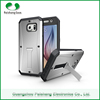 Hybrid heavy duty 4 colors TPU+PC+PET 3 in 1 With stand function combo armor cell phone case cover For Samsung galaxy S6