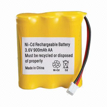 Customized nicd 3.6v rechargeable battery pack manufacturer