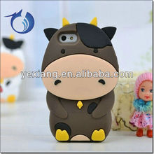 Hot Lovely Milk Cow 3D Animal Case For Iphone 5 Silicon Cover