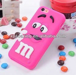 Mobile phone smart beans case cover for iphone 5C chocolate cover