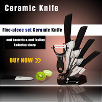 High Quality Kitchen Dining Bar 3 4 5 6 inch Ceramic Knife + Peeler With Covers Paring Fruit Utility Chef Ceramic Knife Sets