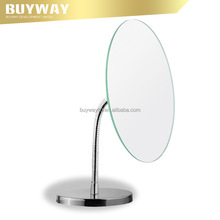 Promotional metal makeup mirror 2X magnify flexile pipe cosmetic mirror for women
