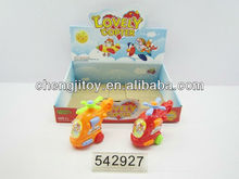 Children promotional gift surprise candy toy 16in1 pull line helicopter