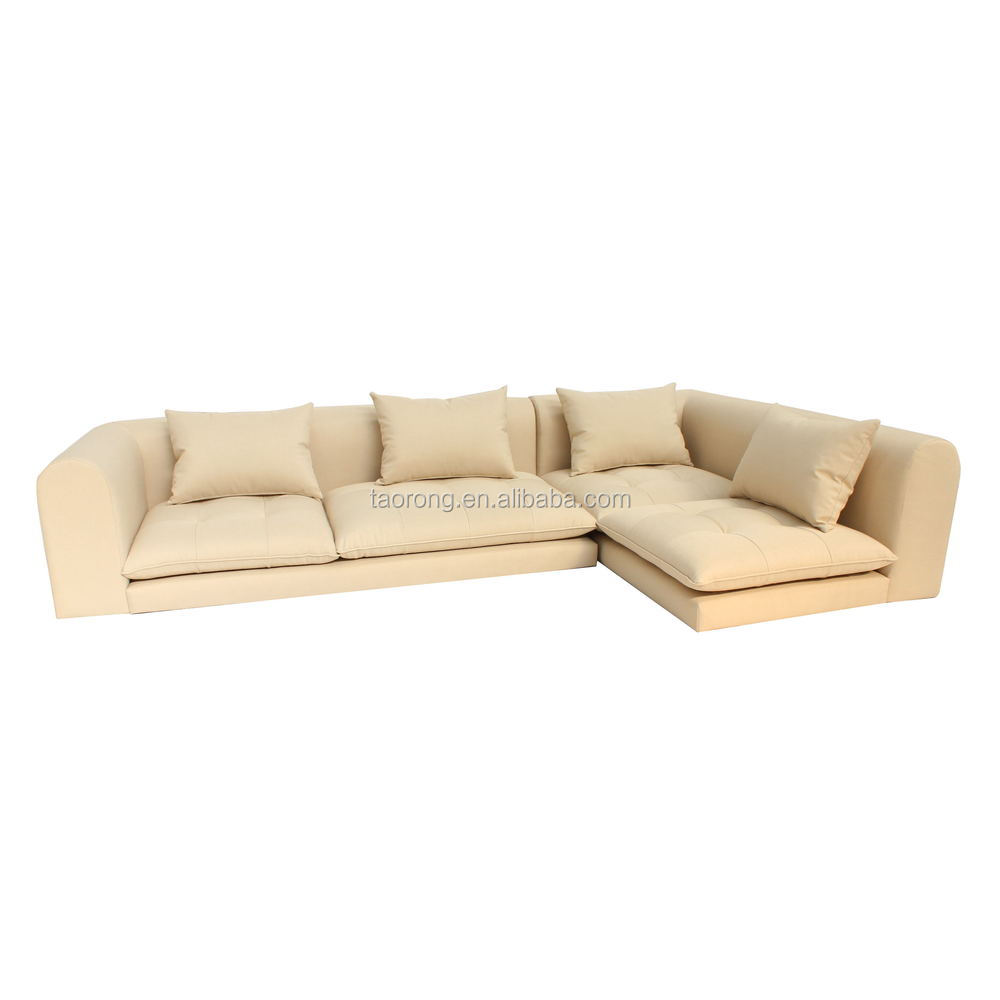 Factory direct l shaped beige fabric japanese floor sofa for Buy floor sofa